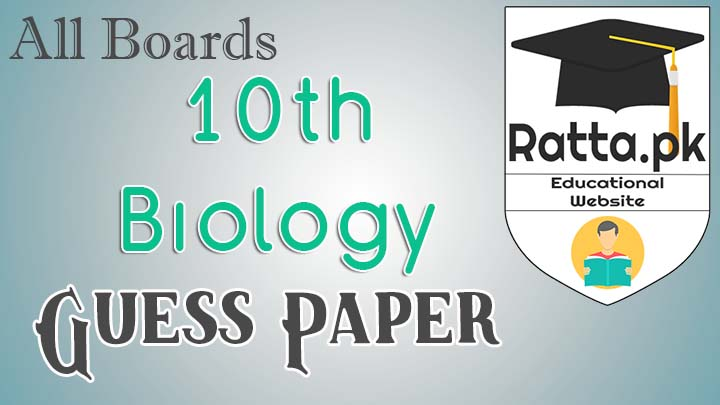 Matric 10th Biology Guess Paper 2017 All Punjab Boards