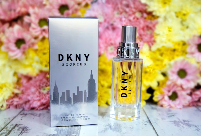 DKNY Stories eau de parfum fragrance perfume new designer sweet scent vanilla tonka flowers flower wall