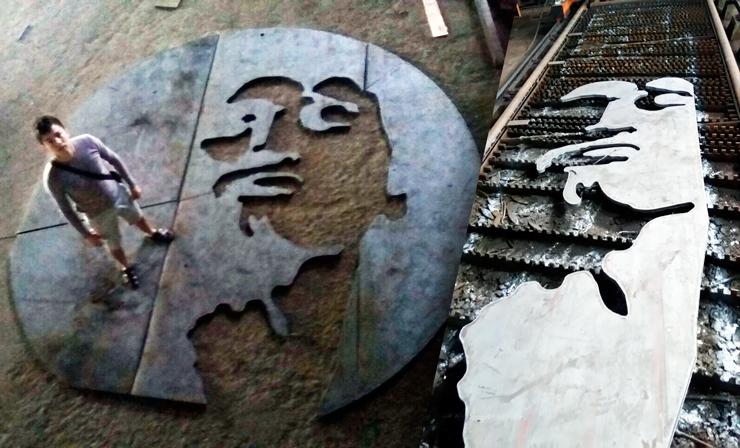 Процесс изготовления монумента Виктору Цою