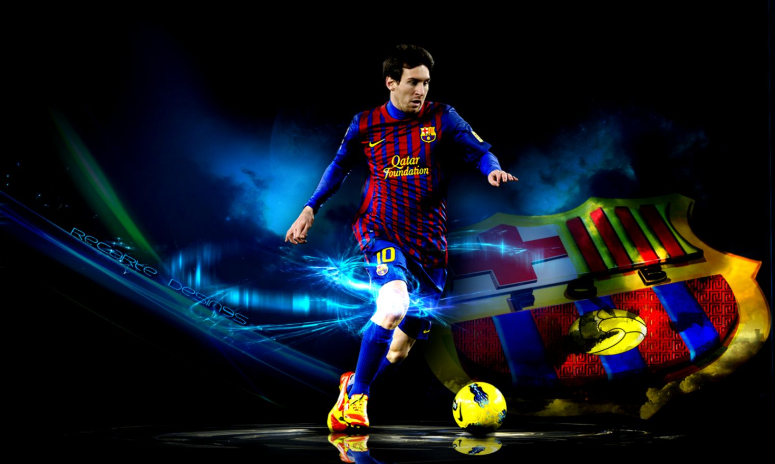 Lionel Messi Hd Wallpaper Glowing | This Wallpapers