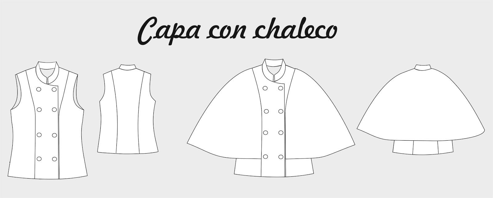 Capa con chaleco ~ Moda en la Costura
