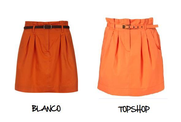 Clones 2011 falda Topshop Blanco