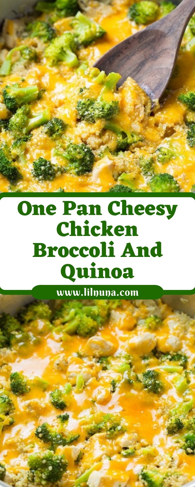 One Pan Cheesy Chicken Broccoli And Quinoa