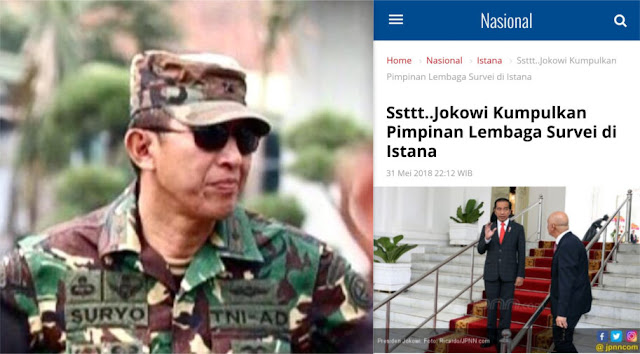 Jokowi Kumpulkan Pimpinan Lembaga Survei, Komentar Suryo Prabowo ini Singkat Namun Menohok