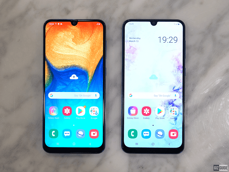 Galaxy A30, A50 front