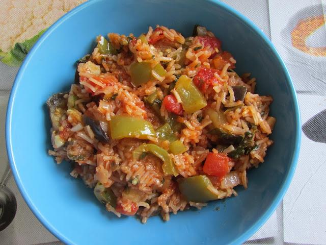 ryż z bakłażanem
