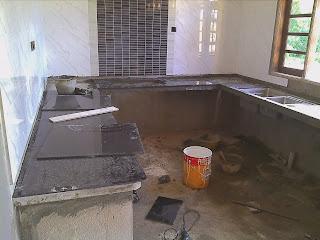Kerja Akhir Iaitu Menyiapkan Kabinet Dapur Dan Memasang Tile Untuk Kiraan Awal Upah Ialah Rm70 00 K Dua Lapis Rm60