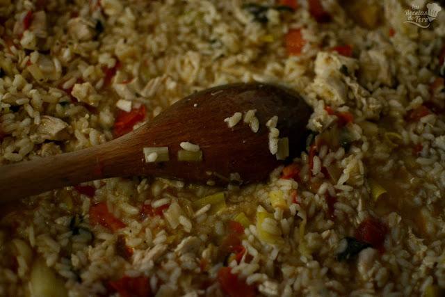 Risotto de pollo tomate y albahaca tererecetas 02