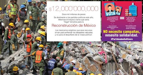 Los ciudadanos, que asumen gran parte de las tareas de rescate, reclaman: #PartidosDenSuDinero
