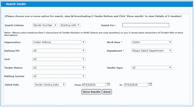 Search WorksTenders in IREPS Application_2