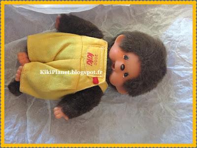 petit kiki aux yeux marron an 2000, collector, vintage, toys, monchhichi