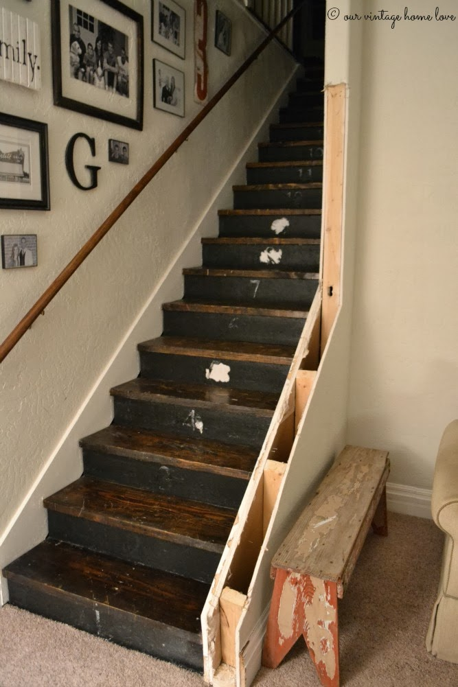 Wall Top Railings In Guildford: Vintage Home Love: Stairway Renovation