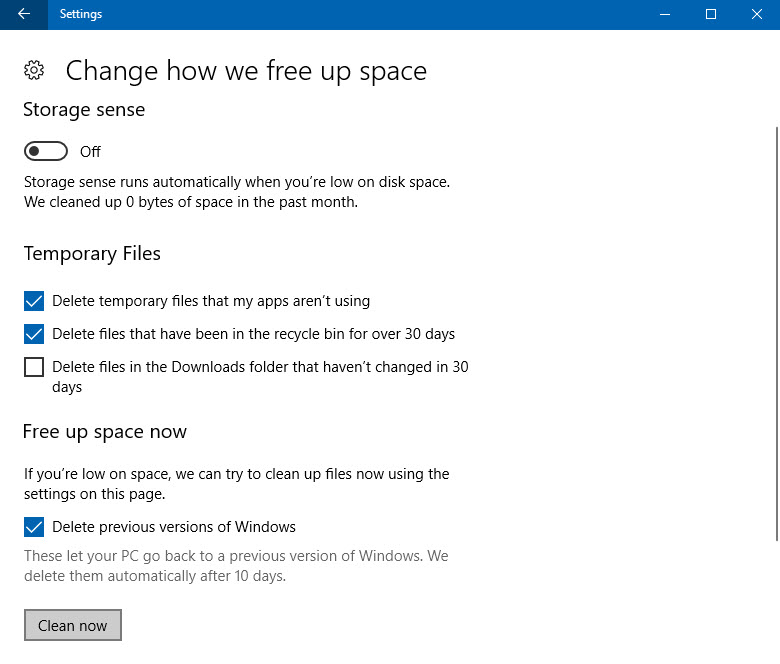 How to recover free disk space after upgrading to Windows 10 Fall Creators Update? (www.kunal-chowdhury.com)