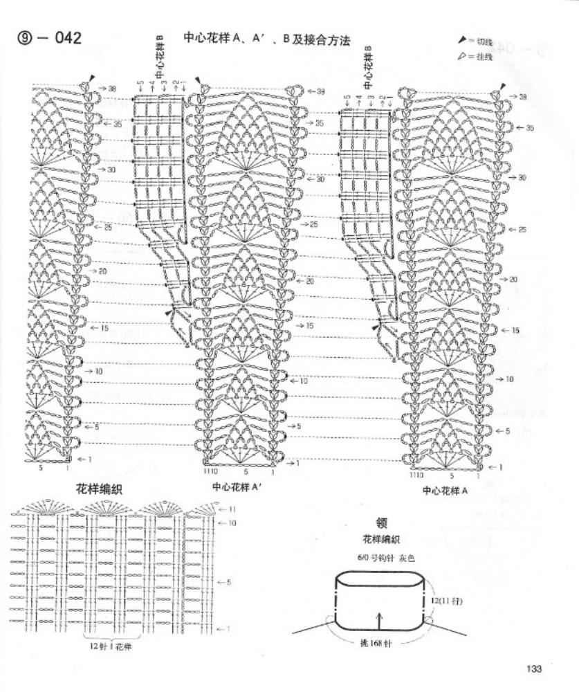 Cuello Estola Redonda Patron - Patrones Crochet