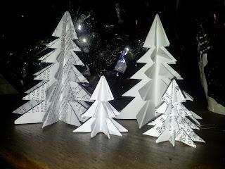 DIY Forêt de sapin en origami