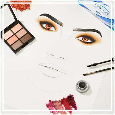 maquillage  Lyli Aldridge pour lentilles de couleur FreshLook
