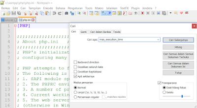 Cari kode max_execution_time
