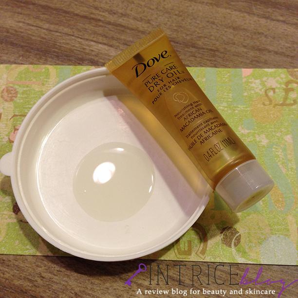 Dove Pure Care Dry Oil -- intrice.blogspot.com