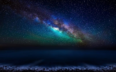 milky way galaxy widescreen hd wallpaper