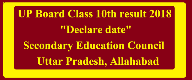 UP Board Class 10th result 2018 Declare date