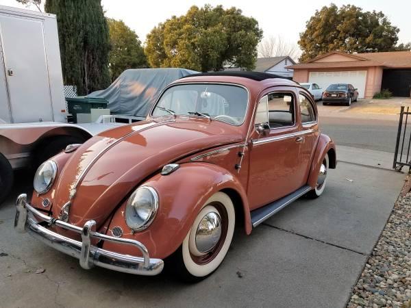 1958 Volkswagen Beetle Coral Red Ragtop