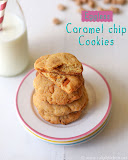 Eggless caramel chip cookies recipe