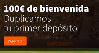 Betsson: Apuestas Deportivas Bono bienvenida hasta 100€ 