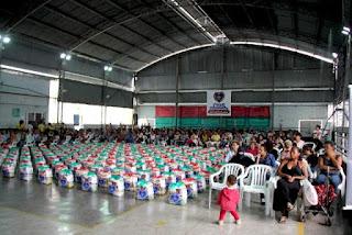 LBV e Prefeitura entregam 250 cestas de alimentos em Registro-SP