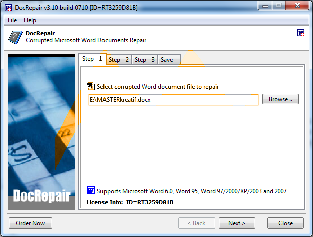 DocRepair v3.10 Full Keygen