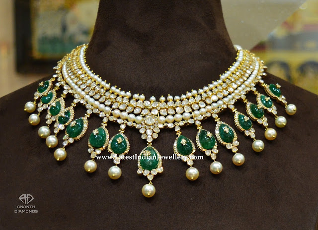 Polki Emerald Masterpiece Necklace