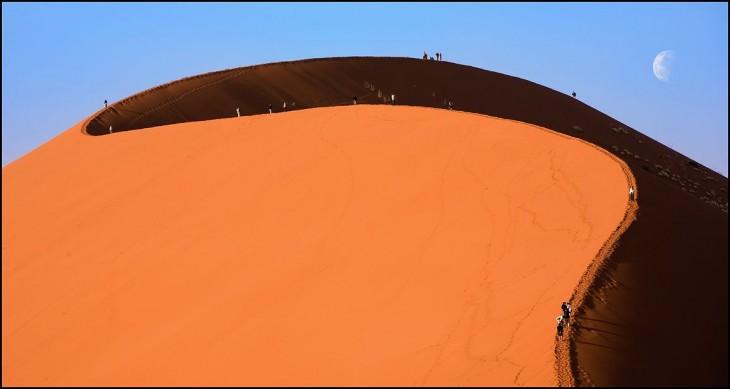 Espectacular foto de dunas en el desierto