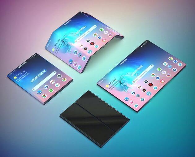 براءة اختراع جديدة من سامسونج تُظهر هاتفًا مزدوجًا قابل للطي