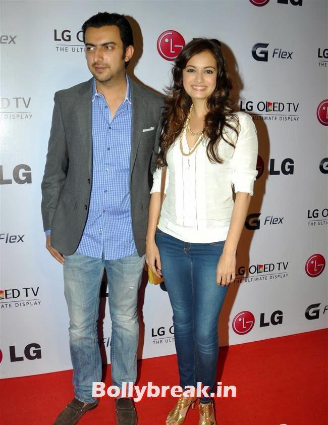 Sahil Sangha and Dia Mirza, Celebs at LG G Flex Smartphone Launch