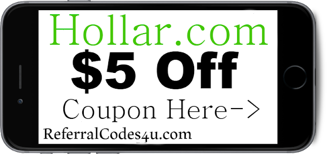 $5 off Hollar New Customer Discount Code Coupon 2018-2019 July, Aug, Sep, Oct, Nov, Dec
