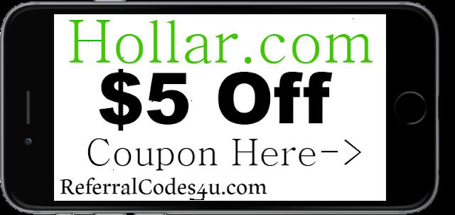 $5 off Hollar New Customer Discount Code Coupon 2021-2021 July, Aug, Sep, Oct, Nov, Dec