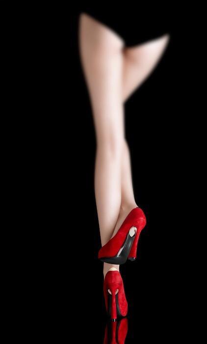 zapatos rojos para dama