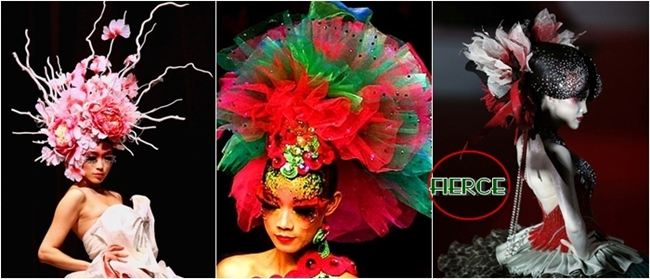 dramatic Chinese fashion headpieces