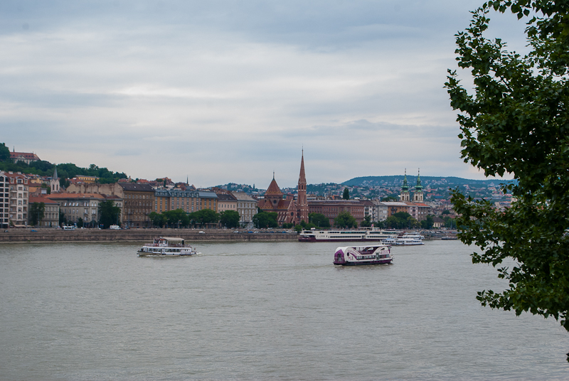 View of the Danube River in Budapest