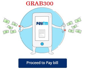 Paytm - Get upto Rs 300 Cashback on Recharge & Bill payments.[GRAB300]