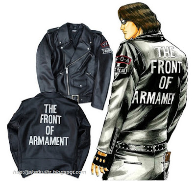 Gambar Jaket Kulit The Front of Armament Kunou Ryuushin