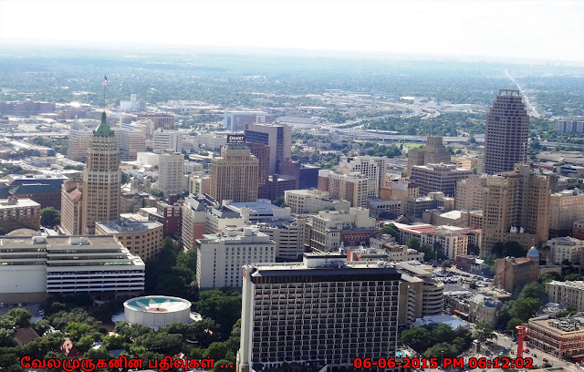 San Antonio Downtown View from Tower of America