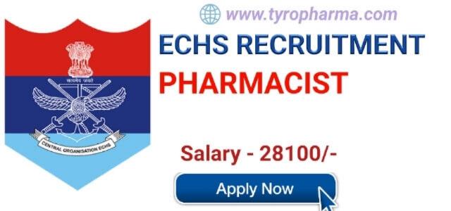 ECHS Pharmacist Recruitment 2019 - Pharmacist job at Ex-Servicemen Contributory Health Scheme