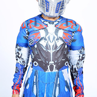 robot transformers optimus prime costume maschera carnevale travestimento cosplay festa a tema eta misura taglia bambino 6 7 8 9 10 11 12 anni