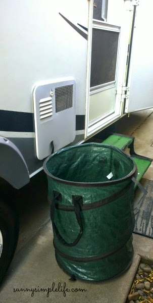 pop up trash can as laundry basket for RV