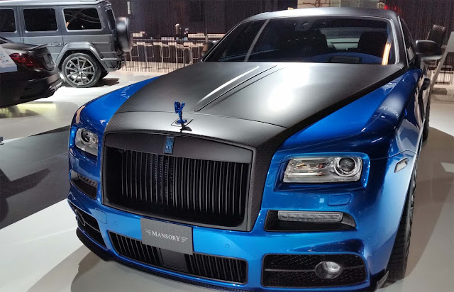 Mansory -Blue Rolls-Royce -front-view