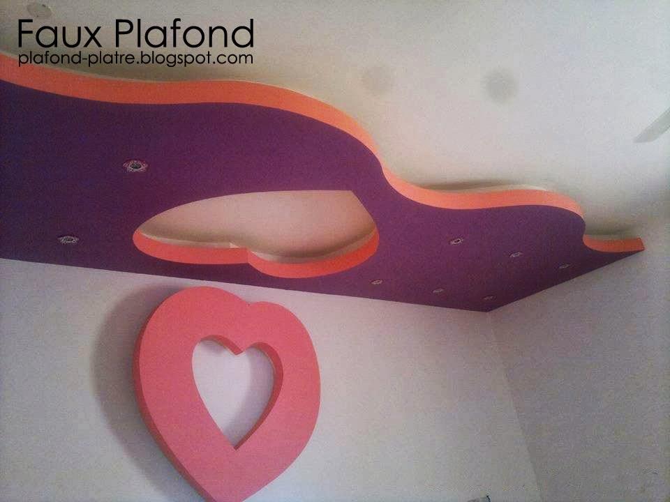 Top ides faux plafonds modernes pour les chambres enfants  Faux Plafond Platre suspendu et tendu
