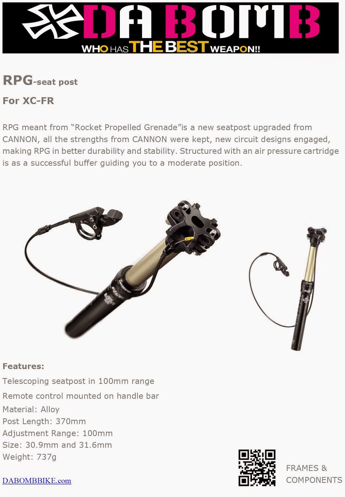DA BOMB Bikes: Extreme MTB Frames & Components: RPG