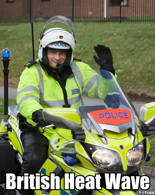 Funny British Heat Wave Policeman Pun Picture