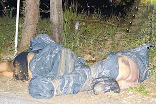 VIDEO Dos cadaveres embolsados en Manlio Fabio Altamirano Veracruz