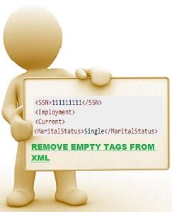 Remove All Empty Tags From  XML in Java , C#